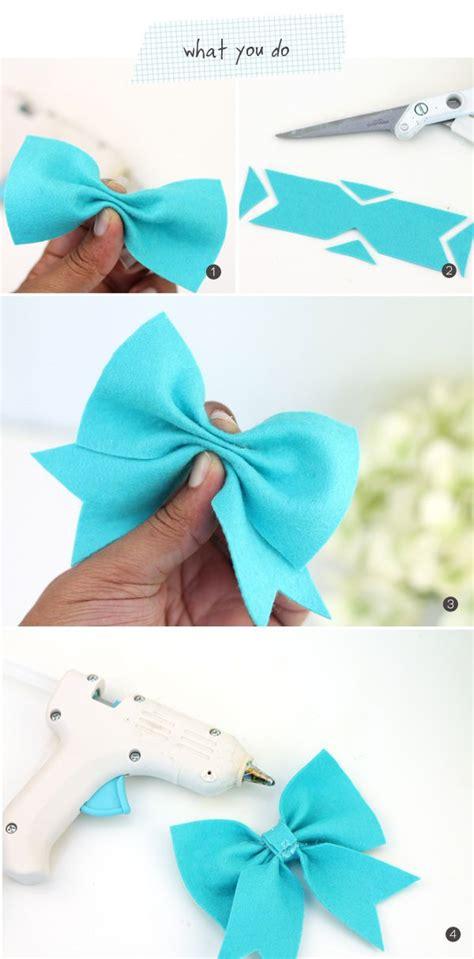 felt ribbon pattern diy easy felt bows damask love make bow howto all