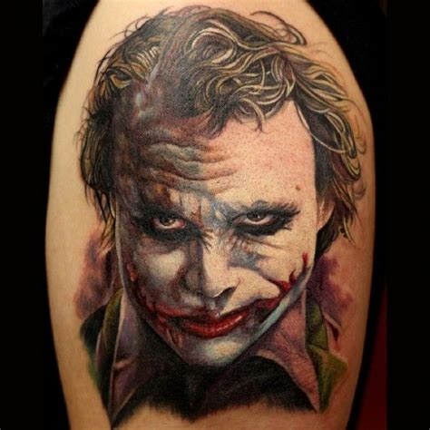 heath ledger tattoos heath ledger joker joe pomparelli gallery