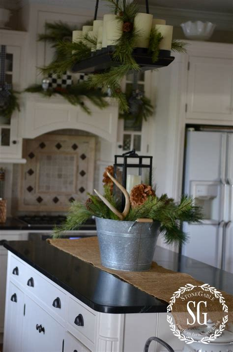 kitchen island centerpieces christmas farmhouse kitchen stonegable