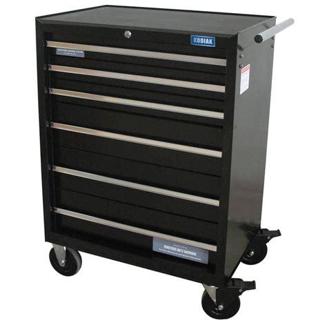 kodiak pro 26 in 6 drawer rolling tool cabinet 74206