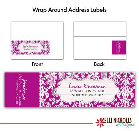 free wedding address labels template mini bridal