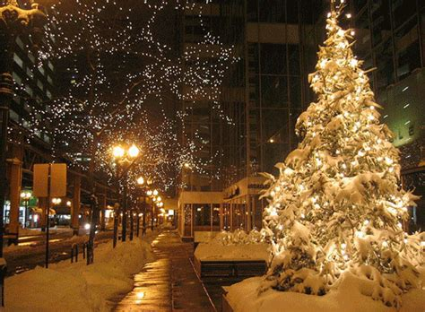 lights and snow luces navidad gif find on giphy
