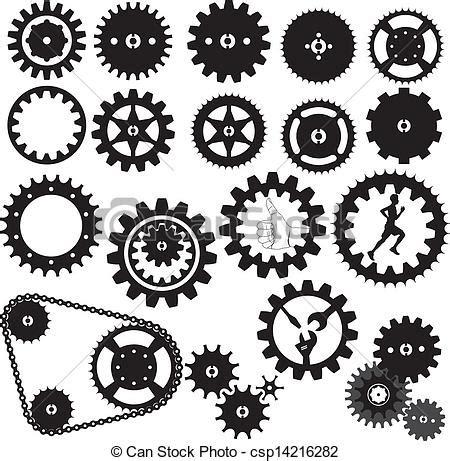 Stencil Machine Gear By 1airbrush gears silhouette vector gears silhouette white