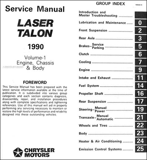 service manuals schematics 1990 eagle talon parking system 1990 eagle talon repair shop manual original 2 volume set