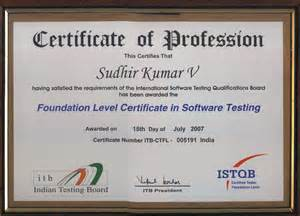 qualifications in resume my certifications software testing automation
