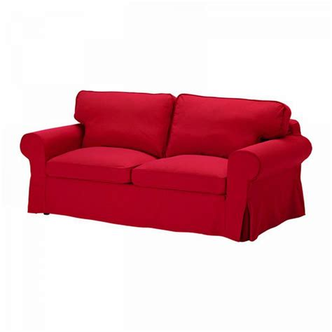 Ikea Ektorp Sofa Bed Slipcover Cover Idemo Red Sofabed Cvr