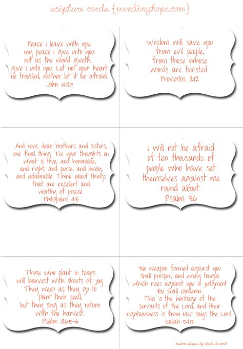 scripture cards  guarding  mind heart  spiritual warfare scripture printables