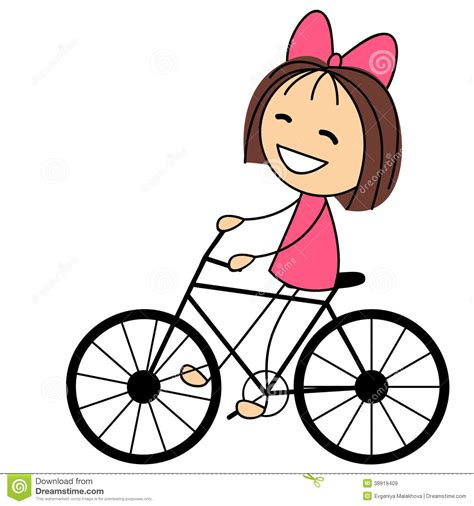 tricycle cartoon on bike with basket clipart