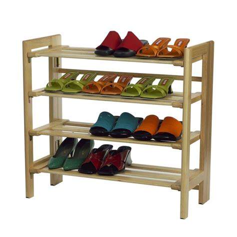 winsome wood 81228 4 tier shoe rack lowe s canada