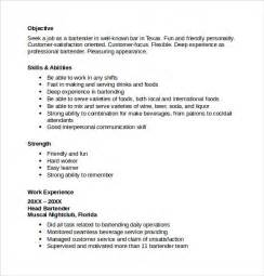 bartender resume template 8 free documents in