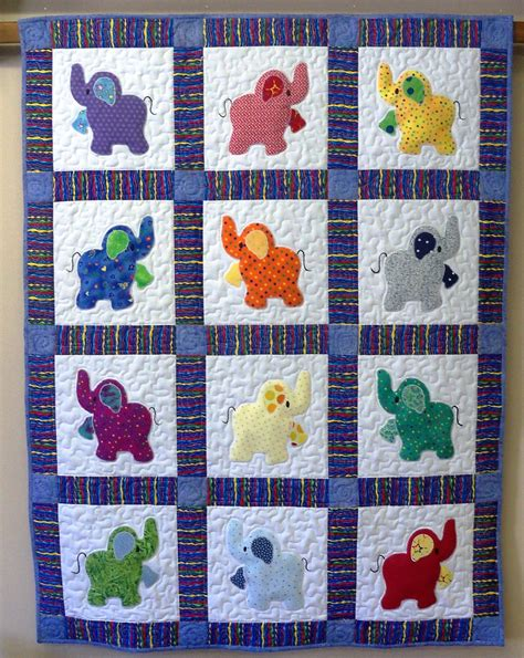 Handmade Patterns - elephant treasures handmade quilt