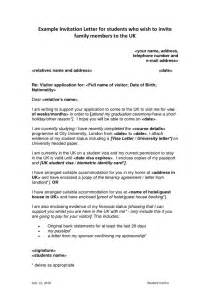 invitation letter sle for uk family visitor visa 17 best ideas about sle of invitation letter on