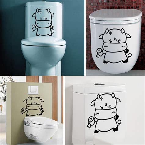 Stiker Toilet Seat Tembok Rumah Home Bathroom Stickers Hst001 Toilet Seat Decal Vinyl Wall Stickers Home Bathroom Refrigerator Decor Removable Ebay