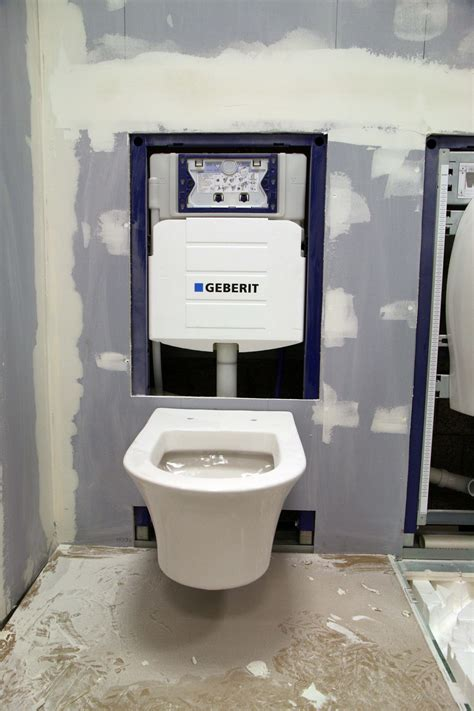 wall hung toilet with tank duravit wall hung toilet on the geberit frame system with