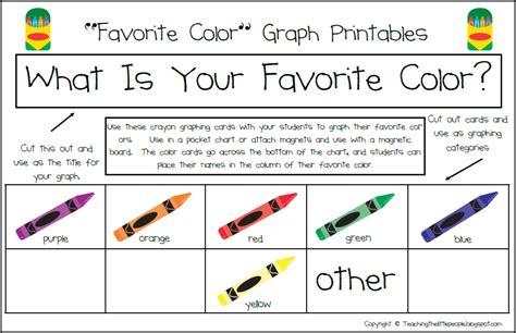 favorite color teaching the little people using graphs in preschool