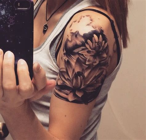 shoulder cap tattoos 1000 ideas about flower shoulder tattoos on