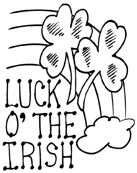 irish coloring book pages luck of the irish coloring page coloring book