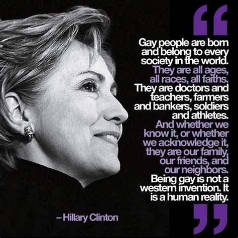 Gay Love Memes - hillary clinton lgbt equality quote gay lesbian history pinterest the o jays clinton n