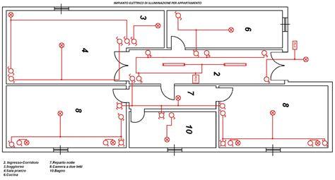 schema elettrico appartamento circuito 9 impianto elettrico di illuminazione per