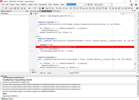 implicit instantiation of undefined template c builder android fail to compile app stack overflow