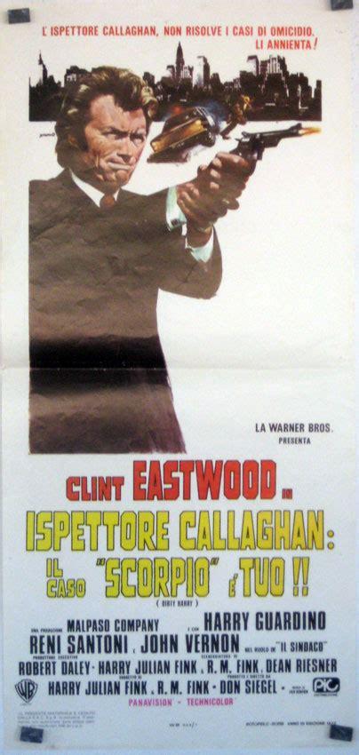 quot ispettore callaghan il caso scorpio e tuo quot poster