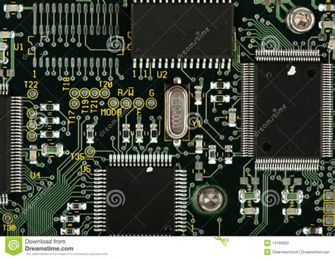 computer integrated circuit board computer circuit board stock photography image 14166662
