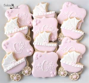 baby carriage baby shower cookies monogram cookies it s