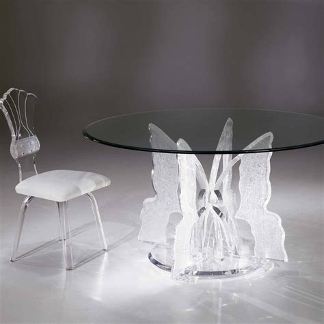 acrylic dining table clear acrylic butterfly ii dining table with glass