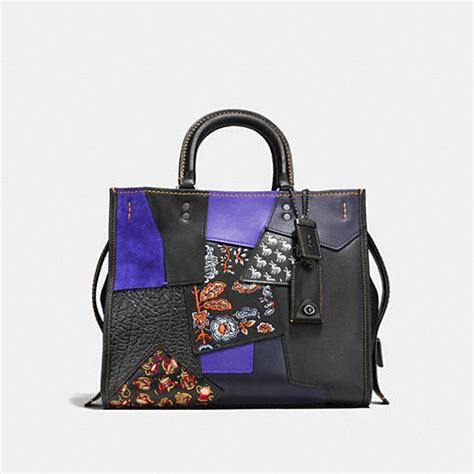 Coach Patchwork Purses - coach designer purses rogue bag in embellished patchwork