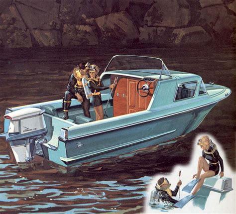 car boat from the 1960s pleasure boating advert orama dorsett marine and raymond