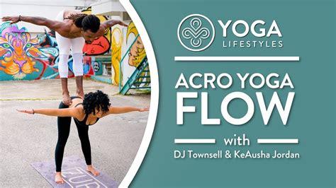 acro yoga tutorial ninja acro yoga flow with dj townsel keausha jordan youtube