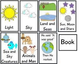 creation story for book the crazy pre k classroom the story of creation flip book freebie