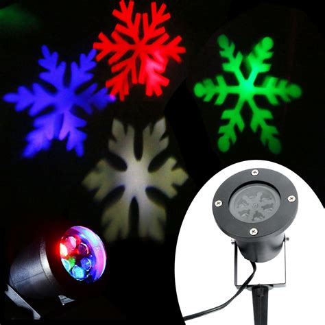 outdoor moving snowflake landscape laser projector l