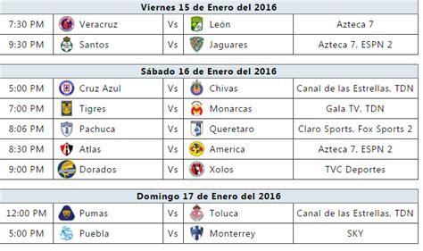 calendario jornada 12 del futbol mexicano apertura 2016 trasmision futbol mexicano jornada 2 la previa