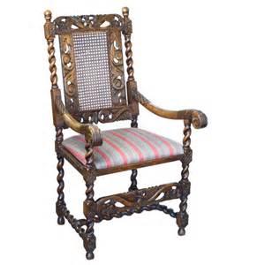 Jacobean Chair by Jacobean Carved Walnut Bergere Armchair Throne Chair X Ebay