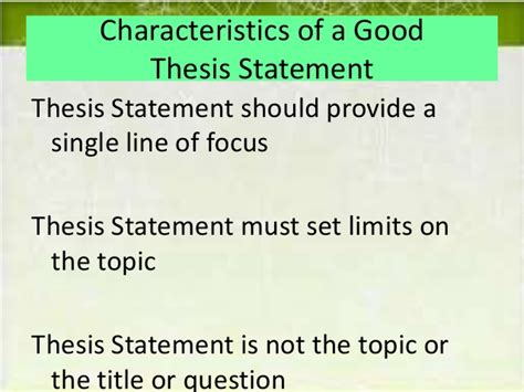 What Makes A Thesis Statement For A Research Paper - a thesis statement for a research paper
