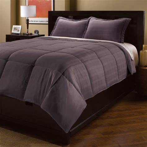 microfiber down comforter aeolus down full queen microfiber dobby plaid comforter ebay