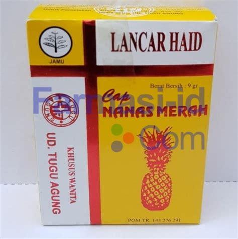 Lancar Haid Cap Nanas Merah Obat Pemancar Datang Bulan lancar haid cap nanas merah kandungan indikasi efek sing kontra interaksi dosis obat