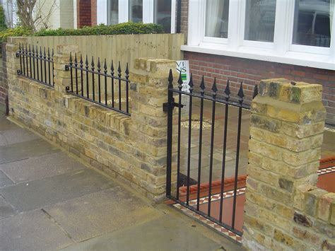 Garden Wall Railings Brickwork And Tiling Creative Gardens By Harvey And Dawson
