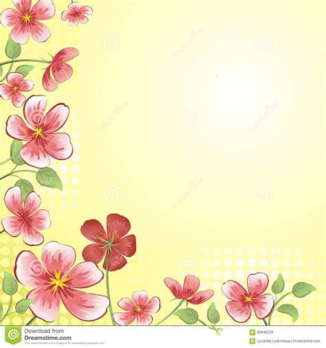 imagenes de flores para invitaciones fondo con las flores para la tarjeta ilustraci 243 n del