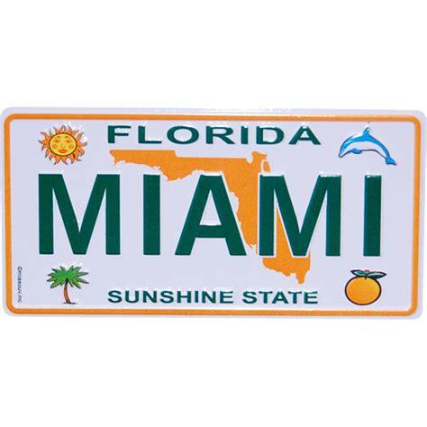 license plate light florida miami magnet florida license plate metal
