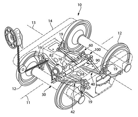 Brake Rigging System Patent Us8556044 Railway Truck Mounted Brake Rigging