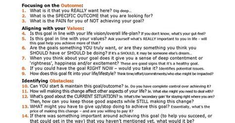 21 questions to extraordinary goal setting desarrollo