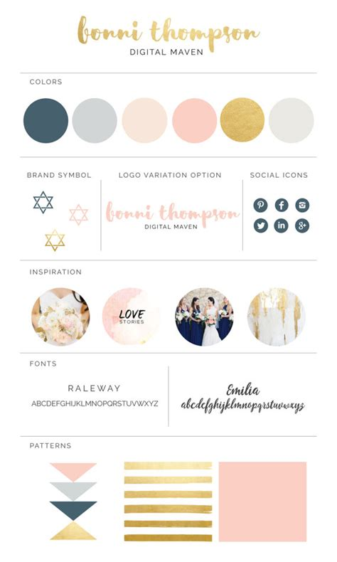 brand board template design your own visual brand identity