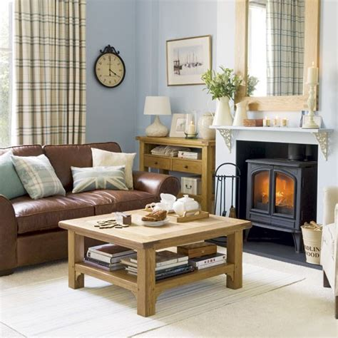 brown sofa in living room blue union living room living rooms design ideas image housetohome co uk