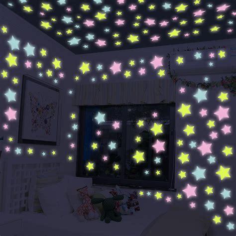 100 pcs wall stickers home decor glow in the dark star 100 pcs lot creative glow star wall sticker diy home