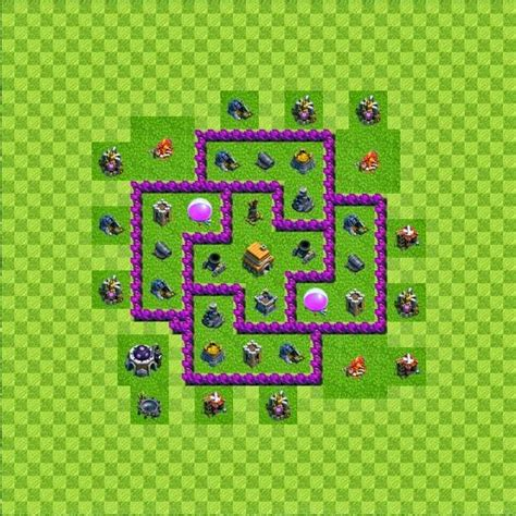 layout level 6 town hall tipe defense base layout town hall level 6 clash of clans