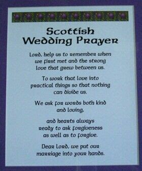Wedding Blessing Poems Prayers by Scottish Wedding Prayer Scottish Sayings Proverbs