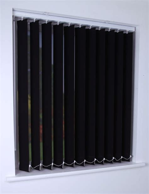 Black Vertical Blinds bermuda plain vertical blind in black quality made to measure vertical blinds