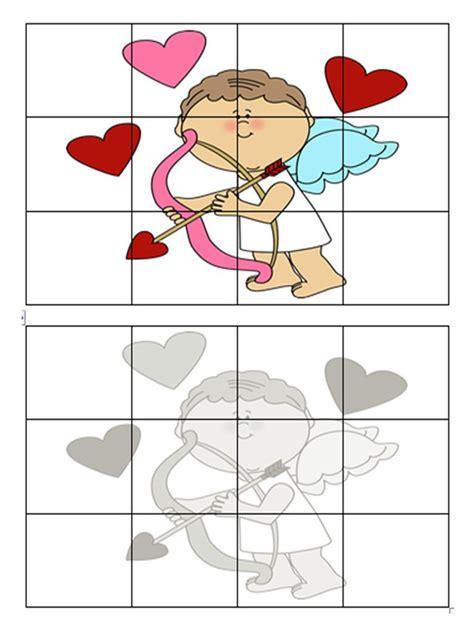 valentines puzzle s day cut paste puzzles valentines puzzles